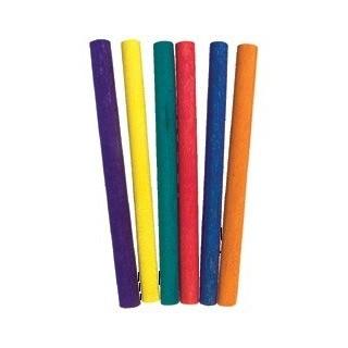 מקל עגול קצר צבעוני 80 יחידות