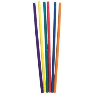 מקל עגול ארוך צבעוני - 40 יחידות