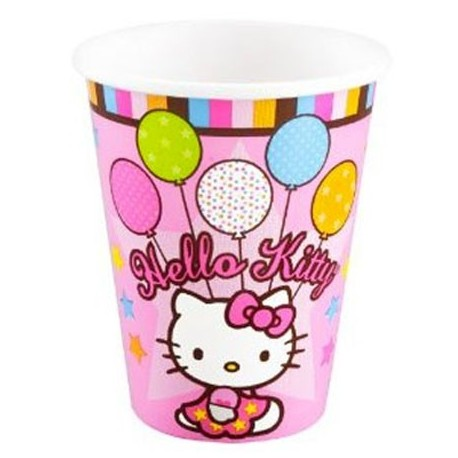 כוס חד פעמית מדגם הלו קיטי