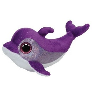 בובת TY פליפס הדולפין הסגול