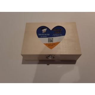קופסת עץ - מסגרת לב