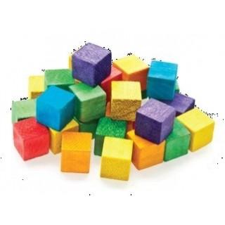 קוביות עץ צבעוני 49 יחידות