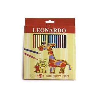 עפרון צבעוני 24 LEONARDO