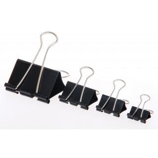 קליפסים גדולים שחורים מתקפלים בגדלים שונים