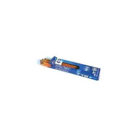עפרון זאפיר עם מחק חבילה של 12 יחידות